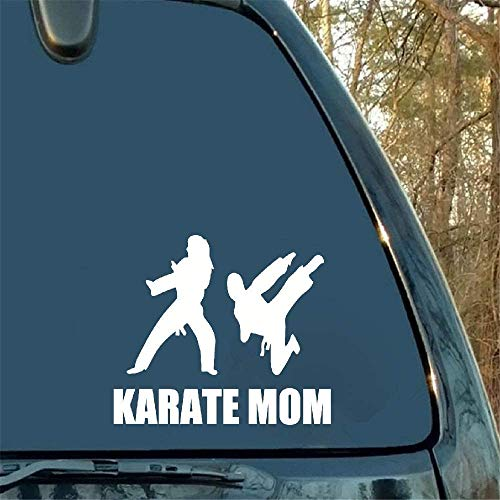 Dozili Vinyl-Aufkleber Karate Mom Home Decor Auto LKW Fenster Aufkleber Kreativität Autozubehör Motorrad Helm Auto Styling Auto Aufkleber 15,2 cm
