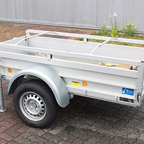TRUTZHOLM 2X Alu-Bügel für Anhänger Flach-Planen verstellbar 1000-1450mm Planenstütze
