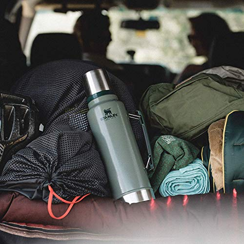 Stanley Classic Legendary Bottle BPA Free Stainless Steel Thermos-Hot for 45 Hours, Matte Black, 1.9L