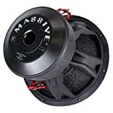 Car Subwoofer by Massive Audio HippoXL152 - SPL Extreme Bass Woofer - 15 Inch Car Audio 4,000 Watt HippoXL Series Competition Subwoofer, Dual 2 Ohm, 3 Inch Voice Coil. Sold Individually