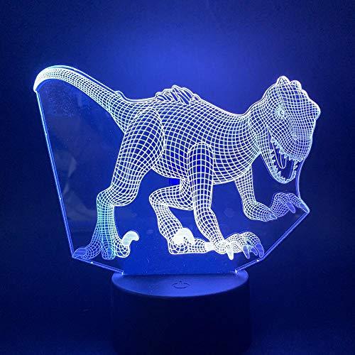 3D Luz De Noche Led LED Luz de Noche Luz de ilusión 3D ideal como regalo de cumpleaños para niños, niños y hombres Con interfaz USB, cambio de color colorido