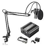 Neewer NW700 Kit de Microphone à Condensateur avec Micro Noir 48V Alimentation Fantôme N...