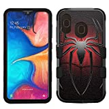 for Galaxy A20 Case, Galaxy A30 Case, Hard+Rubber Dual Layer Hybrid Shockproof Rugged Impact Cover Case - Spiderman #ZL