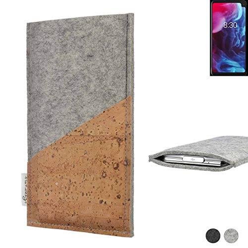 flat.design Handy Hülle Evora kompatibel mit Archos Oxygen 63XL Schutz Tasche Kartenfach Kork passexakt handgefertigt fair