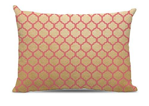 Pink and Gold Quatrefoil Dog Bed