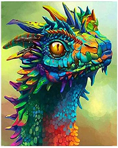 DIY 5D Diamond Painting Kits for Adults Crystal Rhinestone Embroidery Pictures Arts Craft for Home Wall Decor Full Drill (Dragon)