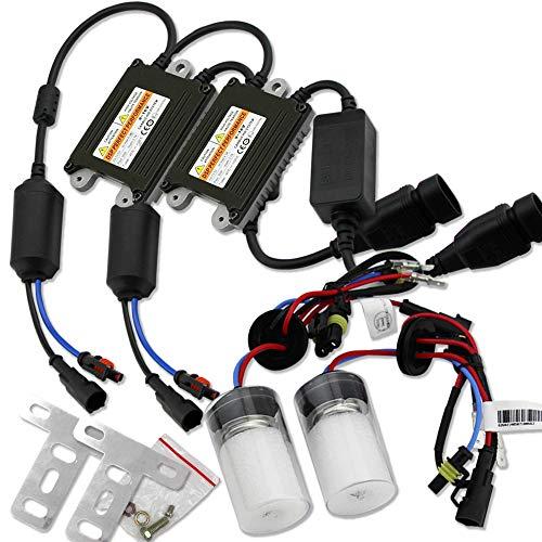 HSUN H7 HID Conversion Kit,35W Kit d'ampoules au xénon CANBUS à ballast numérique HID avec résistance de charge de décodeur pour phare de voiture, blanc au xénon 6000K, lot de 2