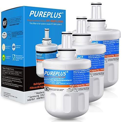 PUREPLUS DA29-00003G Water Filter Replacement for Samsung DA29-00003B, Aqua-Pure Plus DA29-00003F, DA29-00003A, HAFCU1, HDX FMS-1, RSG257AARS, RFG237AARS, RFG297AARS, RS22HDHPNSR Refrigerator, 3Pack