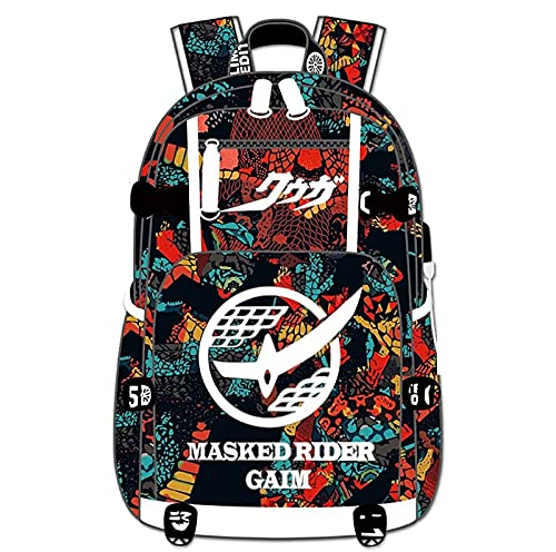 Anime Enmascarado Rider Mochila Cosplay Bookbag Daypack Laptop Bolsa de escuela