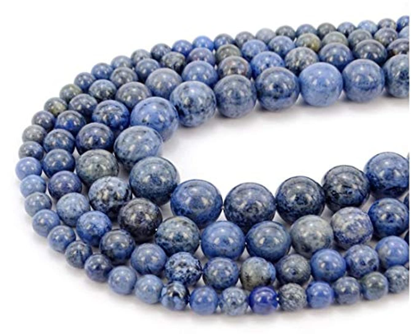 Top Quality Natural Blue Dumortierite Gemstone 4mm Round Loose Gems Stone Beads 15.5