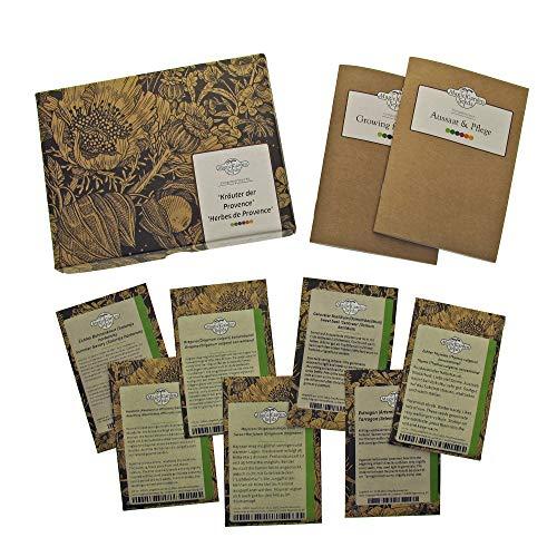 Herbes de Provence - kit cadeau de graines avec 7 variétés pour cultiver le classique mélange d'herbes de la cuisine française