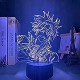Manga D Gray Man Lavi Luz de noche Led para decoración de dormitorio Luz de noche colorida Regalo de anime Lámpara 3d Lavi D Gray Man