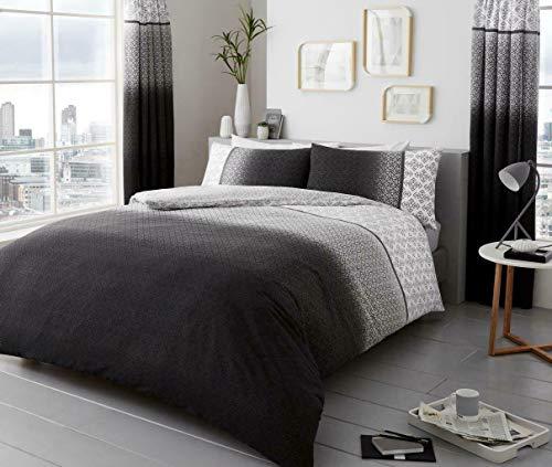 Novali Urban Ombre Pattern Modern Style Bed Set Duvet Cover Grey Super King