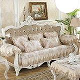 YLCJ Funda de sofá Vintage de Gamuza de Encaje, EuroSofá Antideslizante de Estilo Pean Sofá Funda de sofá Espesar Cuatro Estaciones Amortiguación de sofá-B 65x210cm (26x83 Pulgadas)