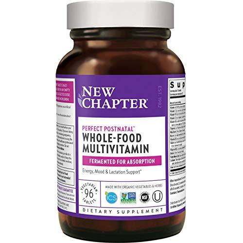 New Chapter Postnatal Vitamins Lactation Supplement with Fermented Probiotics + Wholefoods + Vitamin D3 + B Vitamins + Organic NonGMO Ingredients, Multi, 96 Count