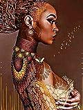 Lovmo Pintura de Diamante 5D de Mujer India, Pintura de Bordado de Diamantes, Bordado de Bricolaje, Pintura de Punto de Cruz, Utilizada para la decoración de la Pared del hogar(Cuadrado 30 * 40 cm)