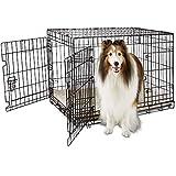 Petco Brand - You & Me 2-Door Folding Dog Crate, 36' L x 23' W x 24' H, Large