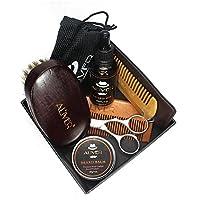 ひげのワックス くし ひげ油 ひげブラシ はさみ 6セットあたりセットひげケアキットツールメンズひげケアトリミングセットひげクリームブラシ毛 ひげ油