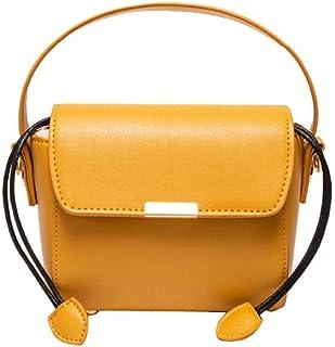 Cross Body Bag Leather Women Popular Fashion Yellow