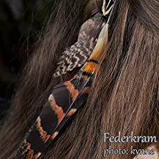 2x2 Feder Haarclips handgemacht Haarschmuck Federn Federschmuck