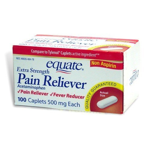 Equate  Pain Reliever Extra Strength Fever Reducer Acetaminophen Caplets Compare To Tylenol 100Count