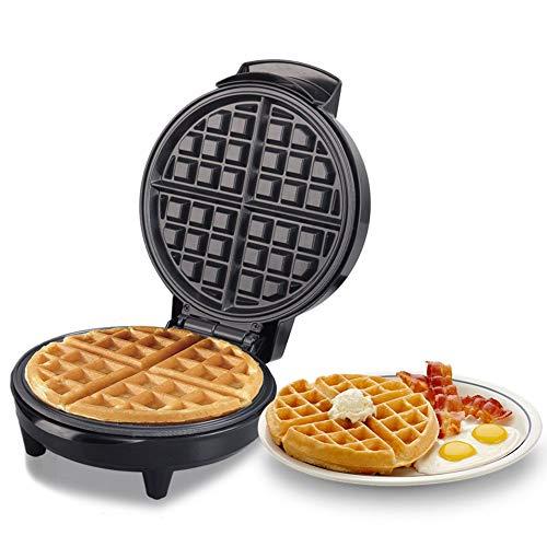 Wafelijzer, grote wafel Eenvoudig te reinigen platen met antiaanbaklaag en automatische temperatuurregeling, compact roestvrijstalen ontwerp