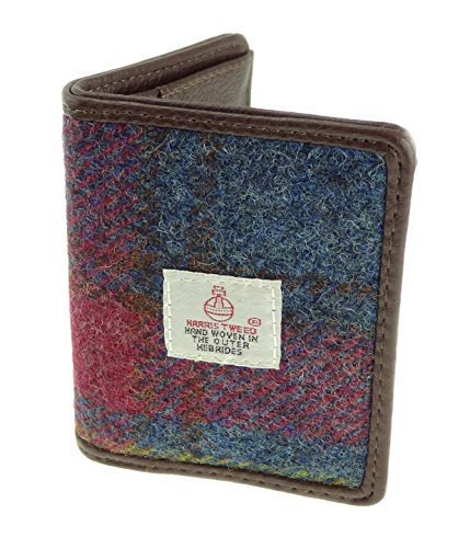 Authentisch Harris Tweed Unisex Kartenfach Etui Erhältlich LB2006 - Farbe 46, 10cm H x 9cm W 2cm D