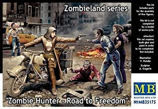 Masterbox Zombieland: Zombie Hunter Road to Freedom Model Kit - 4 Zombies and Escaping Girl (1/35 Scale)
