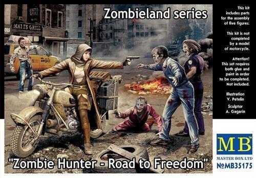 Masterbox Echelle 1/35 Zombie Hunter Route vers la liberté, Zombieland Série Figure