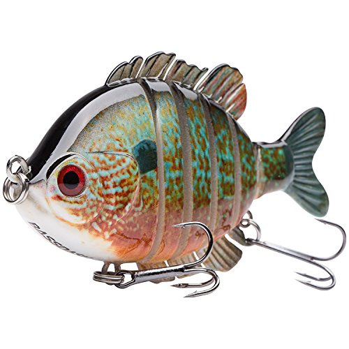 Bassdash SwimPanfish Multi Jointed Panfish Bluegill Swimbaits Topwater...