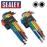 Sealey Pack doble multicolor LARGO ALCANCE Llave Allen...