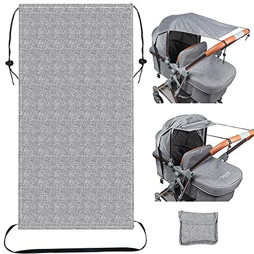 Protezione Solare Telo Parasole Universale Telo Parasole per Carrozzina,Passeggino e Navicella protezione UV 50+ Vela di protezione solare