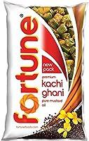 Fortune Premium Kachi Ghani Pure Mustard Oil, 1tr Pouch