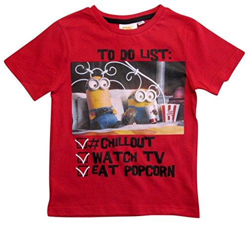 Die Minions Kollektion 2018 T-Shirt 92 98 104 110 116 122 128 Shirt Jungen Neu Top Rot (Rot, 122-128)