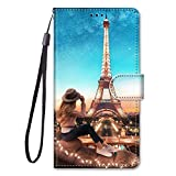 For ZTE Blade V9 Case PU Leather Protection Cute Painted