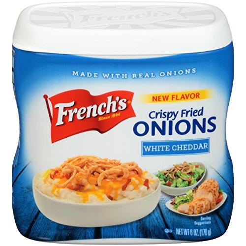 Frenchs White Cheddar Crispy Fried Onions, 6 oz, Onion Topping