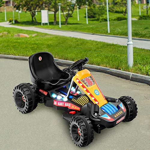 Read About Alek…Shop Enjoy Happy Fun Ride Go Kart Kids Riding Sport Racing Car Comfortable Seat Sa...