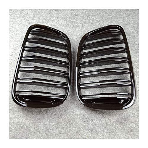 Accesorios para el cuerpo Parrillas de radiador Parrilla delantera de línea dual para BMW F20 F22 E46 E90 E92 F36 F34 G20 F32 F33 F36 E60 F10 G35 G38 E63 F16 F12 F13 F01 G11 G12 F07 (Tamaño: E90 E91 2