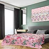 XXL Tagesdecke 220x240 cm OekoTex - Schmetterlinge gesteppt rosa blau grün Decke Bett Überwurf Wohndecke Steppdecke Landhaus-Stil Barock modern bunt