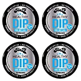 TeaZa Energy Smokeless Alternative (4 pk. Cool Mint Chill) Quit Chewing and Dipping Snuff - Nicotine and Caffeine Free Herbal Energy Pouch - Flavored Chew