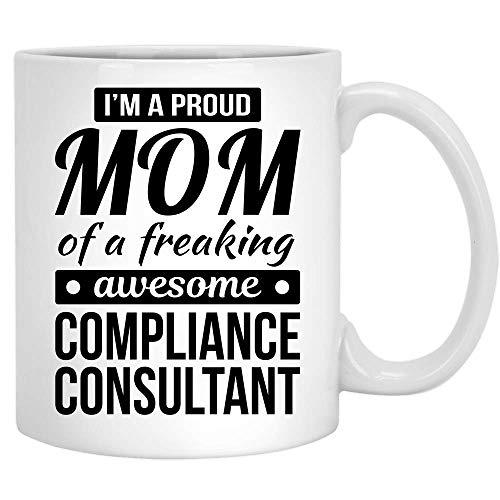 N\A Stolze Mutter des Compliance-Beraters Geschenke Lustige Kaffeetasse Muttertag Keramik Teetasse Weiß 11oz