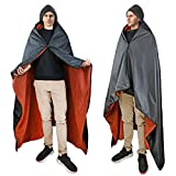 Waterproof Blanket for Outdoors, Hooded Blanket Poncho | Windproof, Warm, Wearable, Portable| for Stadium, Picnics, Sports Events, Camping, Yoga, Beach, Outdoor Adventure