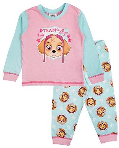 Mädchen-Schlafanzug für Babys oder Kleinkinder mit Disney Minnie Mouse / Me to you Tatty Teddy Design, Pyjama-Set, Größe: 6 - 24 Monate Gr. 6-9 Monate, Paw Patrol - Team Skye