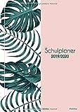 Schulplaner 2019 2020 Schüler Mädchen: Schülerkalender 2019-2020 Hausaufgabenheft für 1 Schuljahr | Terminkalender von August 2019 - August 2020 | ... | A5 Schultimer | Motif Palmen rosa - Papeterie Collectif