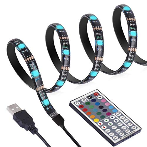 ANSCHE 3M Tiras Led Iluminación para TV, 88LEDs 5050 SMD RGB Backlight Kit Iluminación Decoración ambiental con control remoto de 360 grados de RF y USB Para Monitor HDTV 40~70in, el de PC