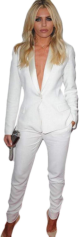 WZW Women's Business Work Suits Female Office Uniform Slim Fit Ladies Formal Trouser Suits 2 Piece Sets Blazer