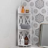 Corner Shelves,Corner Shelf Stand Perfect for Bathroom Storage in Tight Space,Bathgroom Corner Shelf Fit for a Toilet Closet,Small Corner Shelf Match Any Room to Organizing Home Decor,White by AOJEZOR