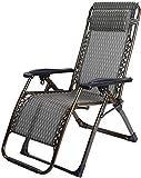 Sillones reclinables sillones sillas Plegables Tumbona Plegable por Gravedad Tumbona reclinable Cama de jardín Silla reclinable con reposabrazos (Color: Wave Dimensiones: 72 * 68 * 112cm)