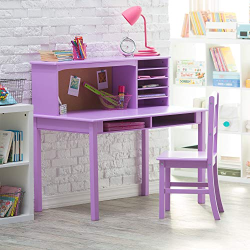 Girls Computer Desk Hutch and Chair