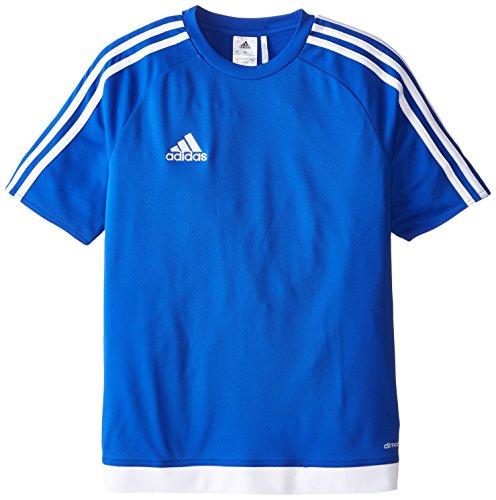 adidas Camiseta de fútbol Juvenil Estro, Niños, S1506GHTM004Y, Bold Blue/White, Large
